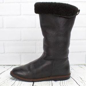 VTG LL Bean Draper England Shearling Leather Boots